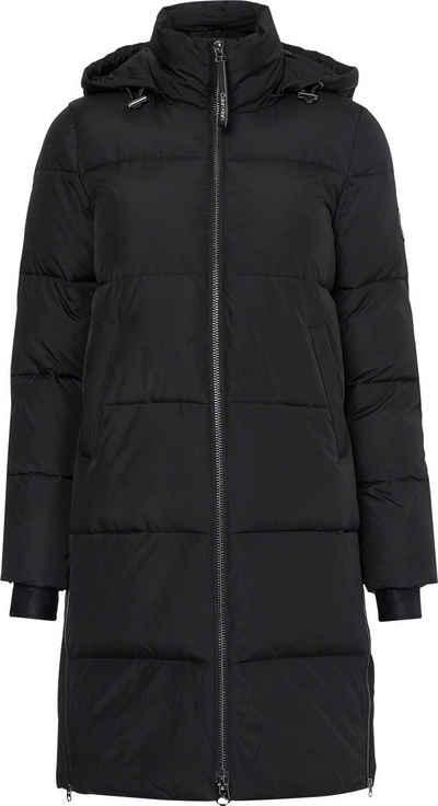 Calvin Klein Steppmantel »ELASTIC LOGO SORONA COAT« mit 2-Wege-Reißverschluss & seitlichen Reißverschlüssen