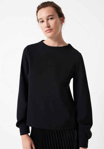 someday Sweatshirt »Urme« mit Raffungs-Detail am Ärmel