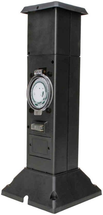 Kopp Gartensteckdose »Energies., 2xStd,+Zeits.«, Energiesäule mit 2 Schutzkontaktsteckdosen