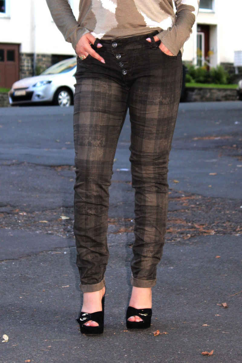 Buena Vista Stretch-Jeans »Malibu brown check«