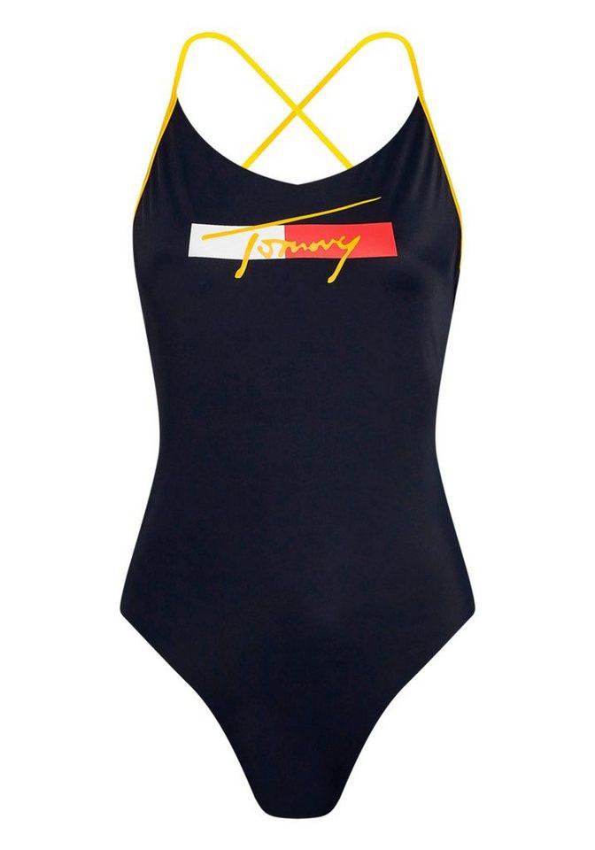 Bademode - Tommy Hilfiger Badeanzug, mit Logoschriftzug vorn ›  - Onlineshop OTTO