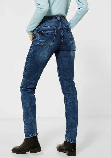 Cecil Slim-fit-Jeans mit stylischem Nieten-Galon
