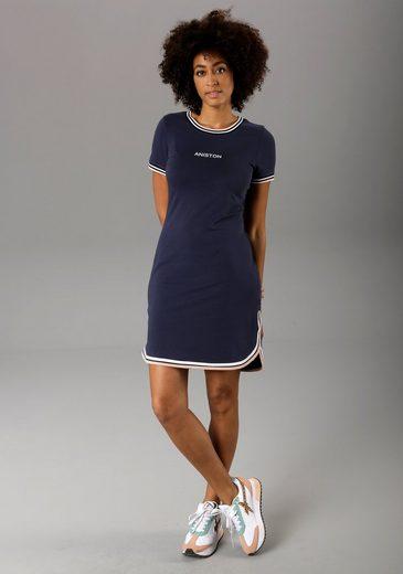 Aniston CASUAL Jerseykleid mit raffiniertem Saum - NEUE KOLLEKTION