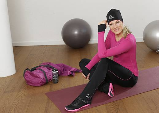 Workout at home mit Maria Höfl-Riesch