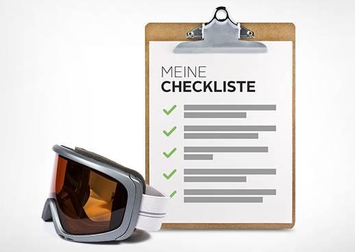 Checkliste für den Winterurlaub