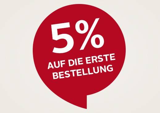 5% Rabatt auf Ihre erste Bestellung!