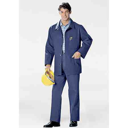 Sicherheitsschuhe, Schutzkleidung und Arbeitskleidung.
