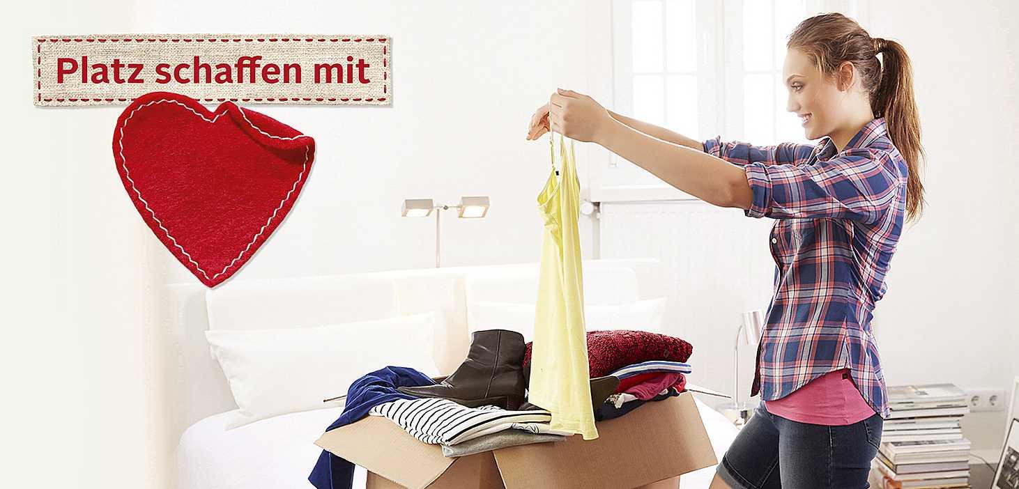 Platz schaffen mit Herz, Kleiderspende im Paket OTTO