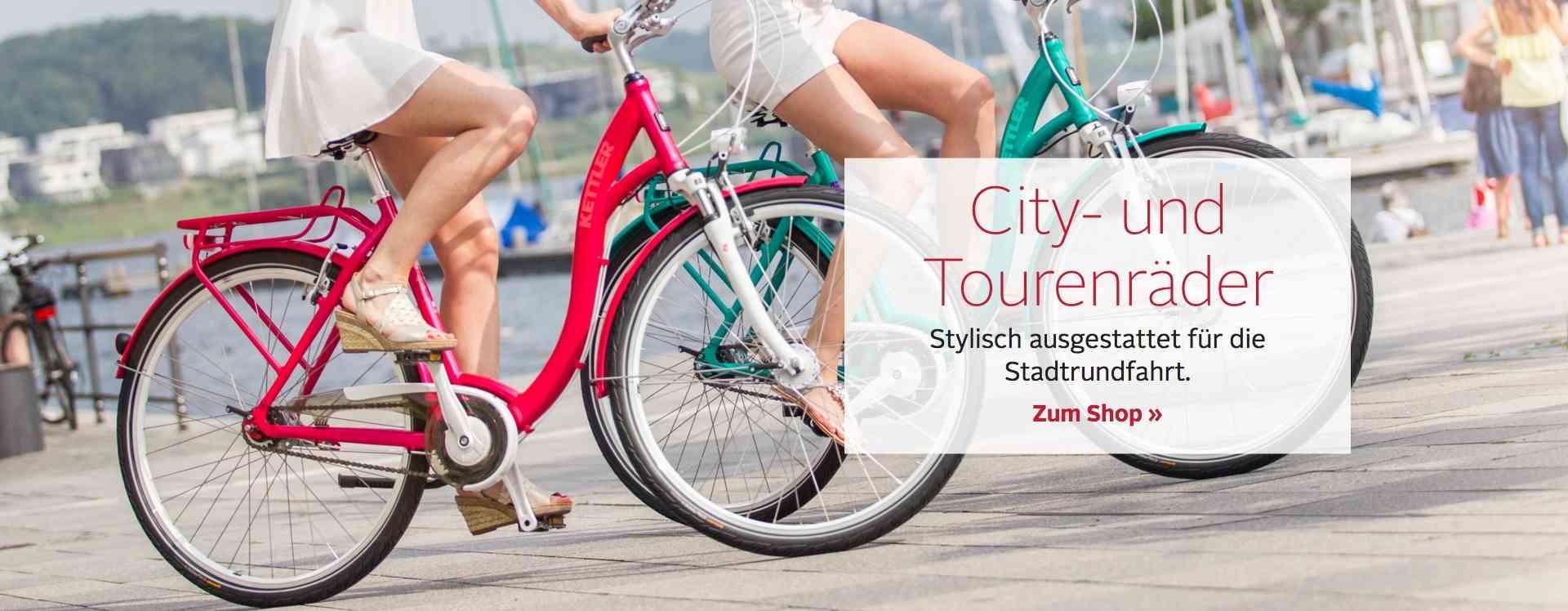 Entdecken Sie die Vielfalt unserer Cityräder und Tourenräder für Ihre nächste Fahrradtour, zum Einkaufen oder für den Arbeitsweg!