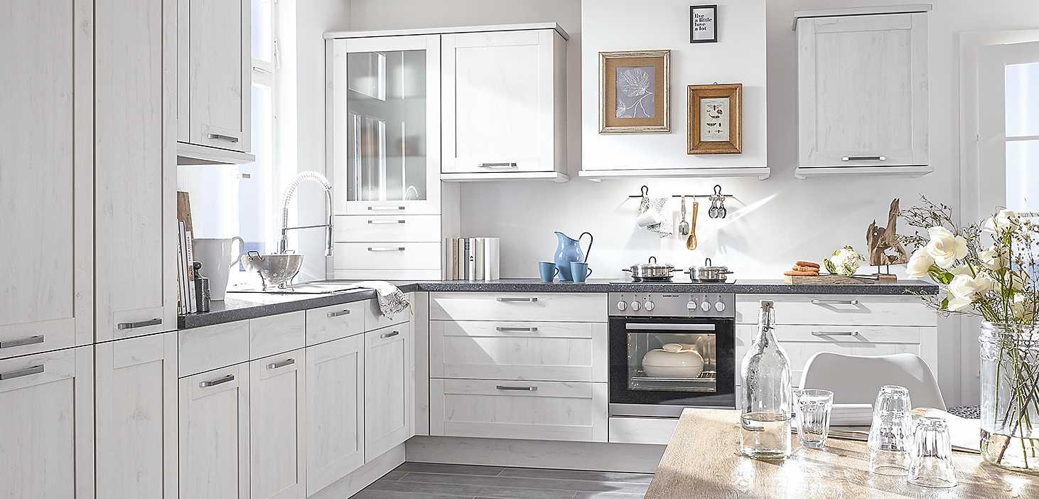 Eckküche Gotland in Skandic Oak Nachbildung