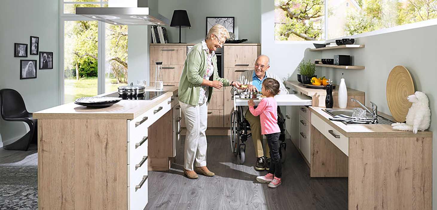 Best-Ager Küche Jung & Alt in Magnolie matt