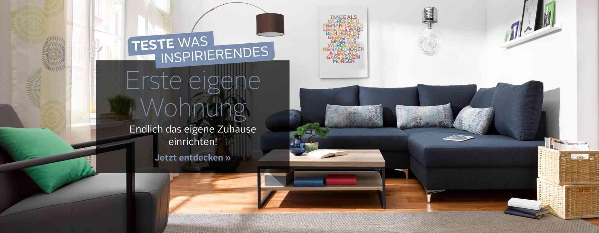 Tschüss, Hotel Mama. Hallo, erste eigene Wohnung! Schlafzimmer, Wohnzimmer oder Bad: Holen Sie sich stylische Ideen zu günstigen Preisen für die ersten eigenen 4 Wände.