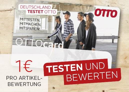1€ pro Artikelbewertung auf die OTTOcard