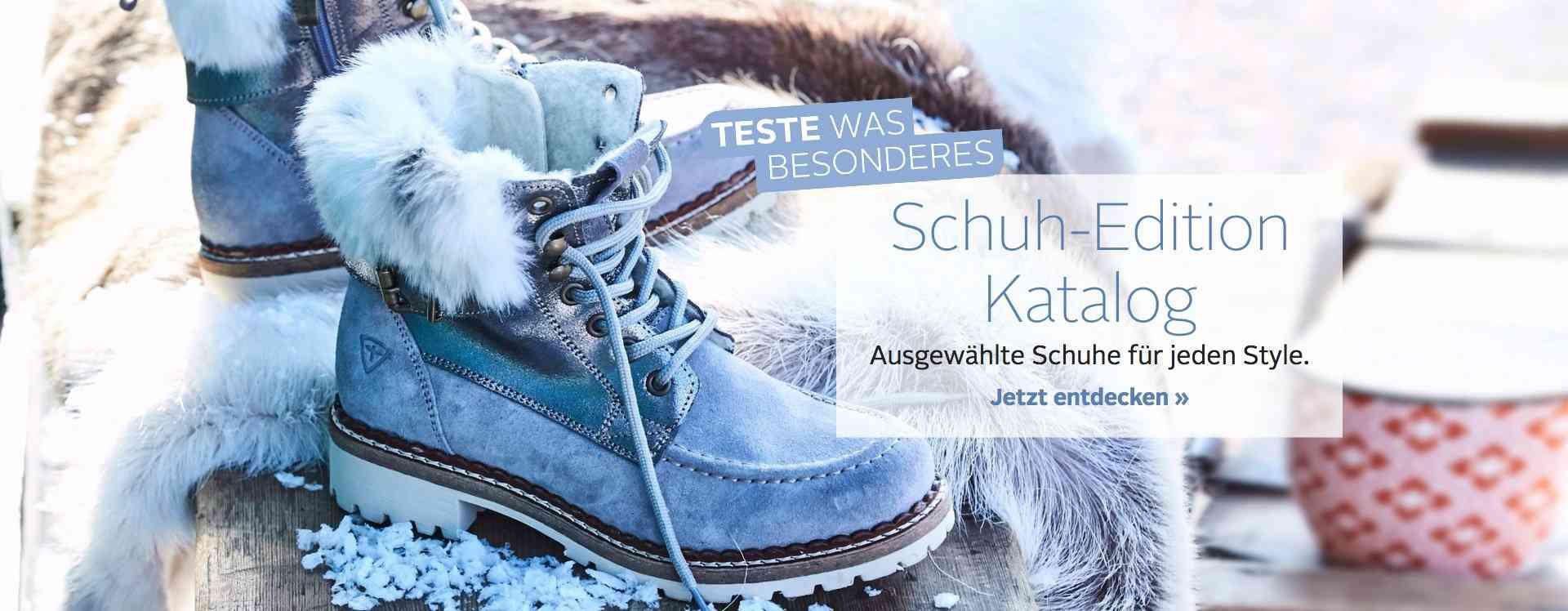 Frisch eingetroffen: Der neue Schuh-Edition Katalog mit den besten Highlights für Trendsetter! Für Damen, Herren und Kinder... Jetzt entdecken!