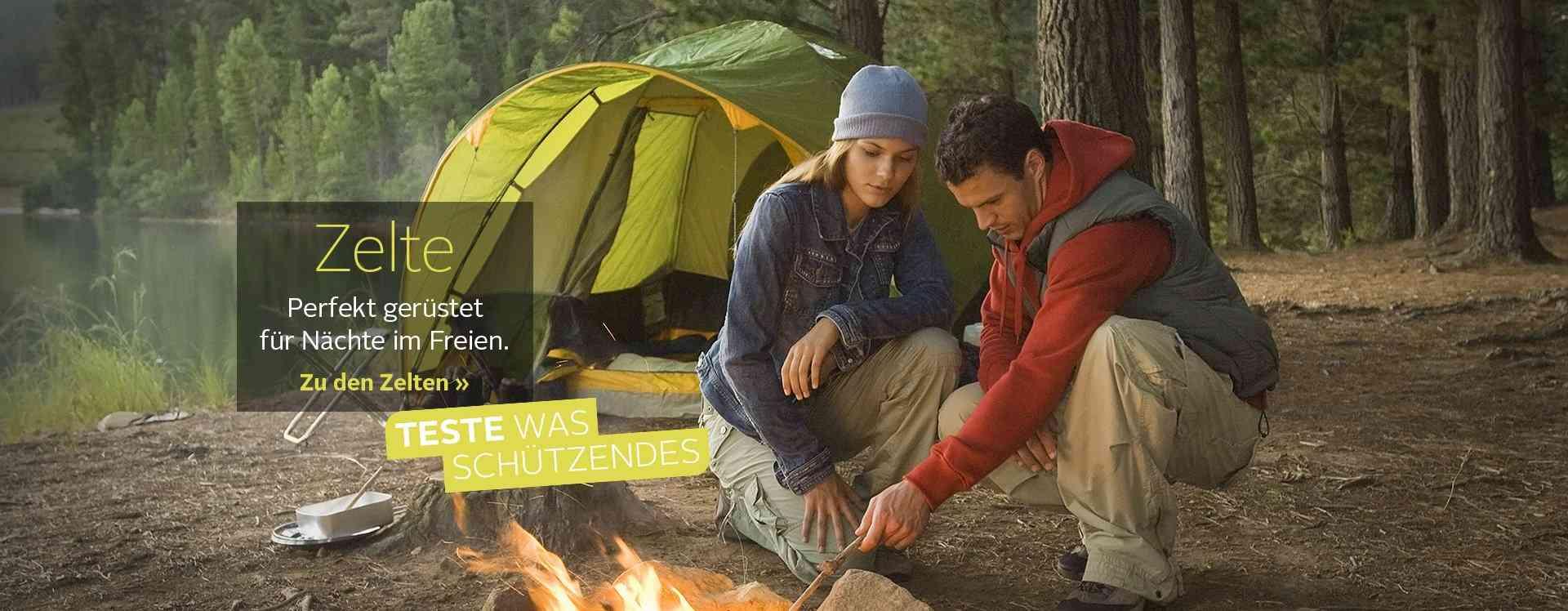 Zelte in allen Größen und Formen für Ihren nächsten Urlaub: Der Outdoor-Trip kann kommen. Genießen Sie die Natur mit unseren Campingzelten!