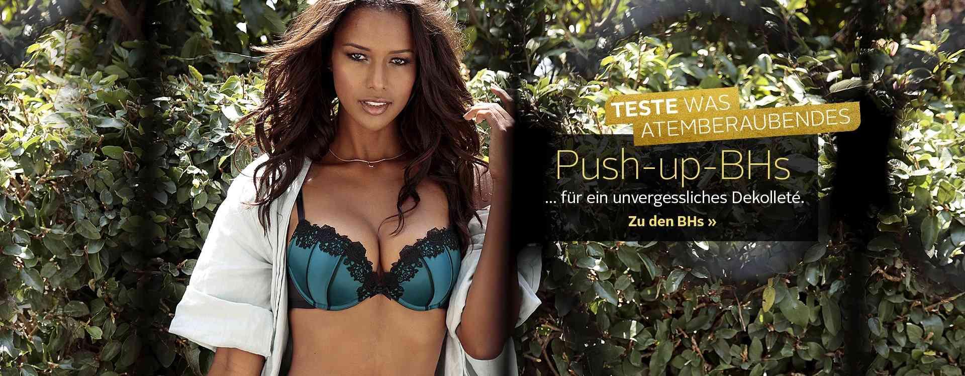 Push-up-BHs zaubern ein tolles Dekolleté. Sie heben die Büste und lassen sie optisch größer wirken. Entdecken Sie unsere bunte Vielfalt an Push-up-BHs.