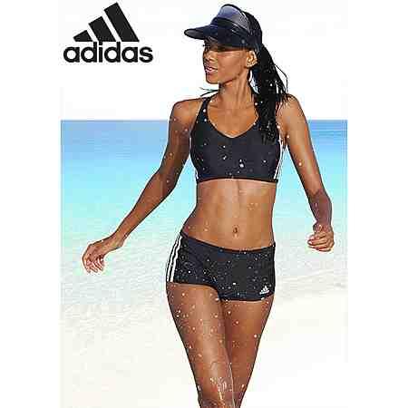 Großartiges Design und hohe Funktionalität stehen für adidas. Sportliche Badeanzüge, Bikinis und Badeshorts von adidas entdecken!