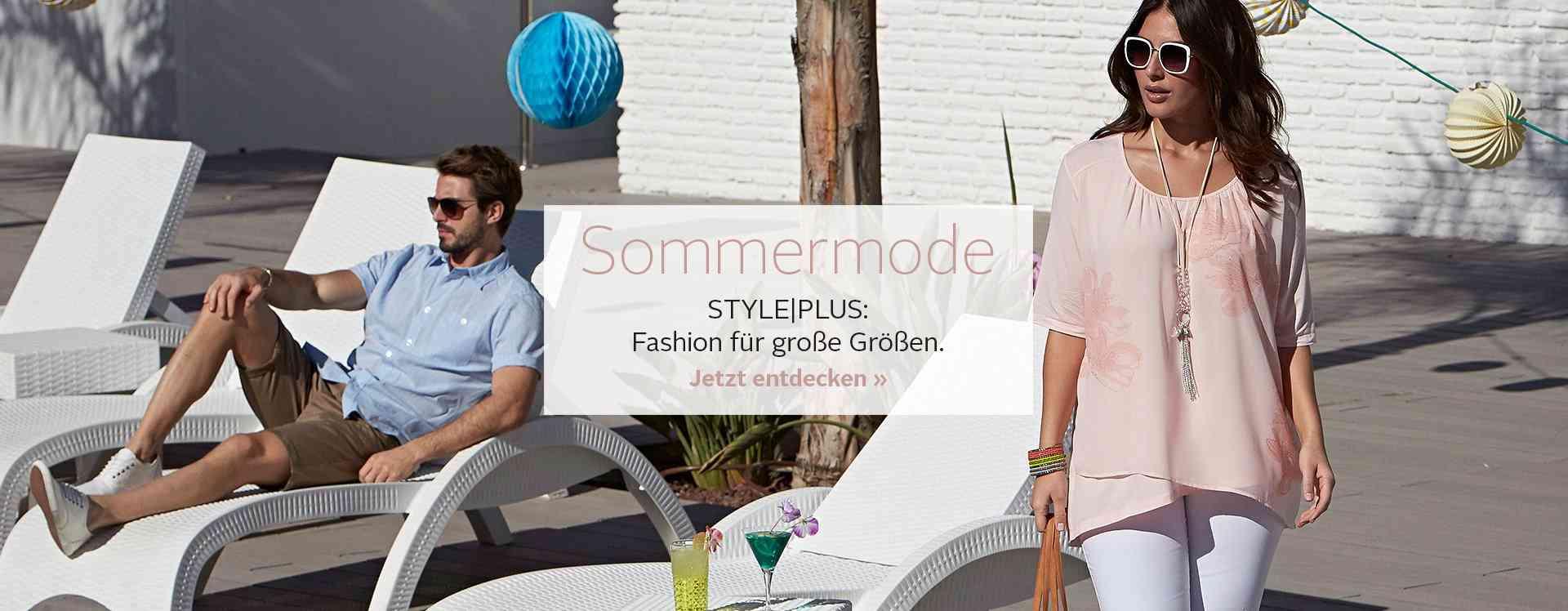 Coole Styles für heiße Tage: Große Größen Sommermode in luftigen Schnitten und leichten Materialien. Für Sie und Ihn... Jetzt entdecken!