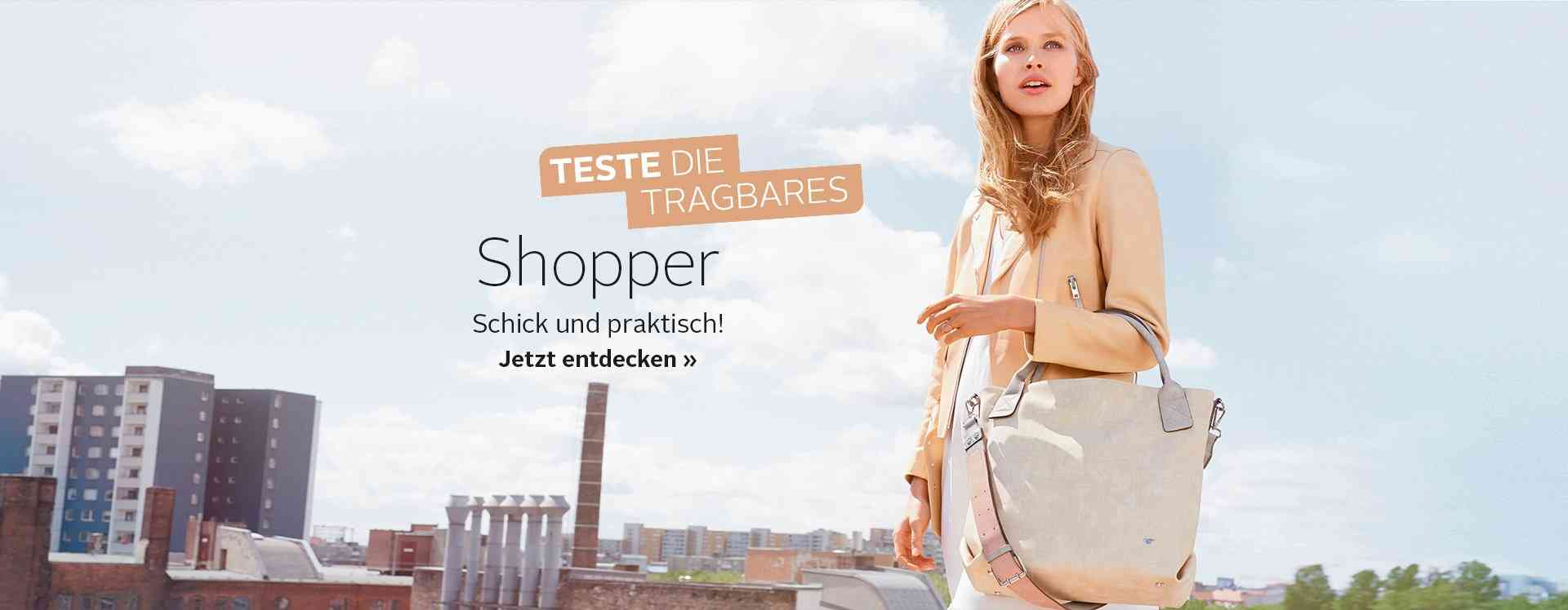 Mit diesen Shopper- Taschen haben Sie bei Ihrem nächsten Einkaufsbummel genügend Stauraum.