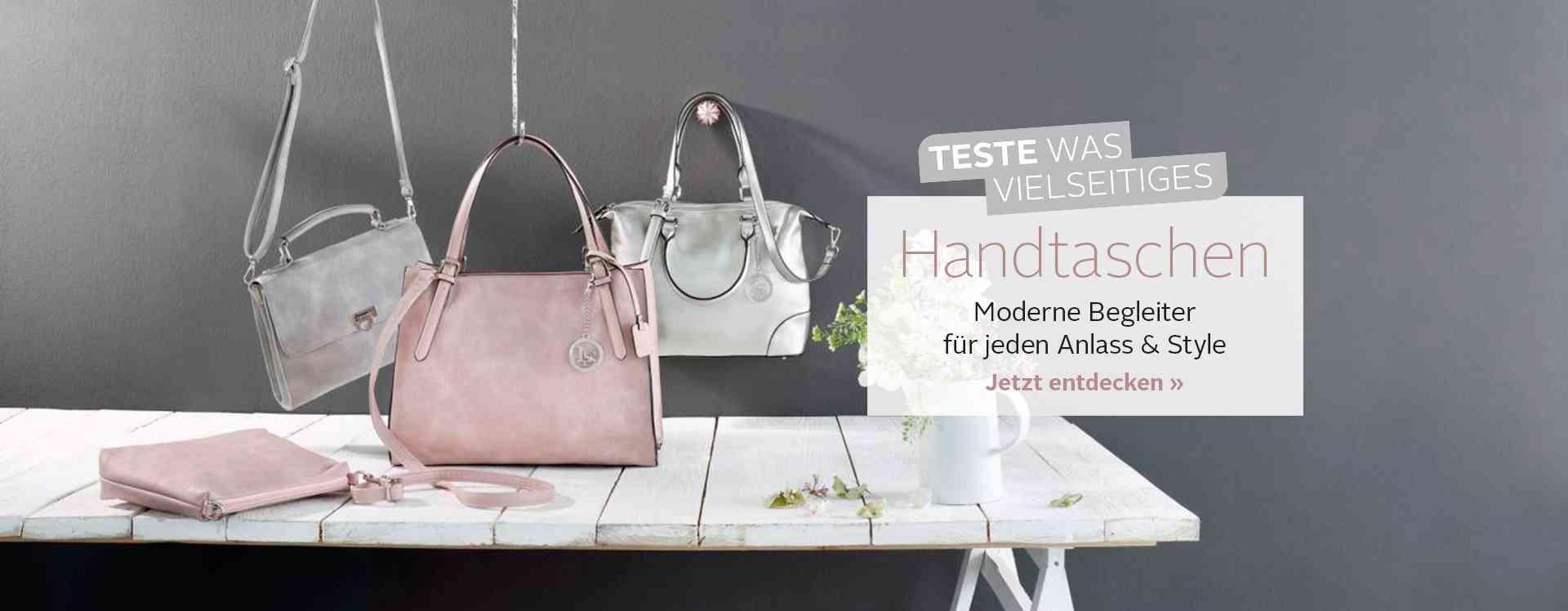 IHR ständiger Begleiter: Handtaschen finden Sie hier in allen Variationen in grenzenloser Hülle und Fülle.