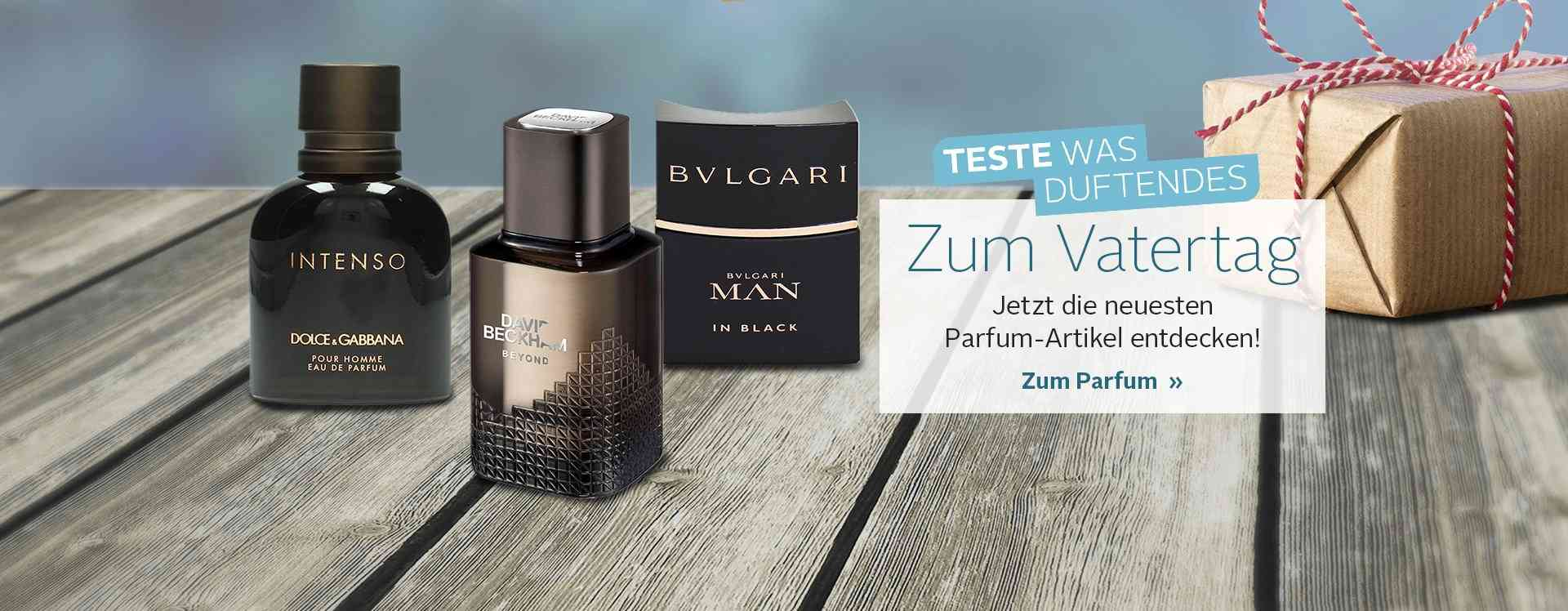 Entdecken Sie unsere große Auswahl verschiedener Parfums und Duft Sets für den Mann.
