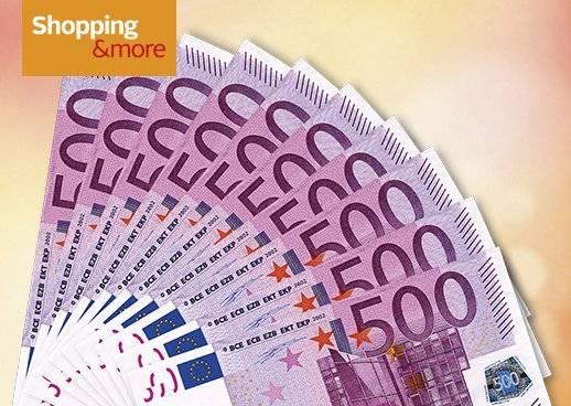 Shopping&more Gewinnspiel 5.000€ in bar attraktive Gewinne Garantiegewinne
