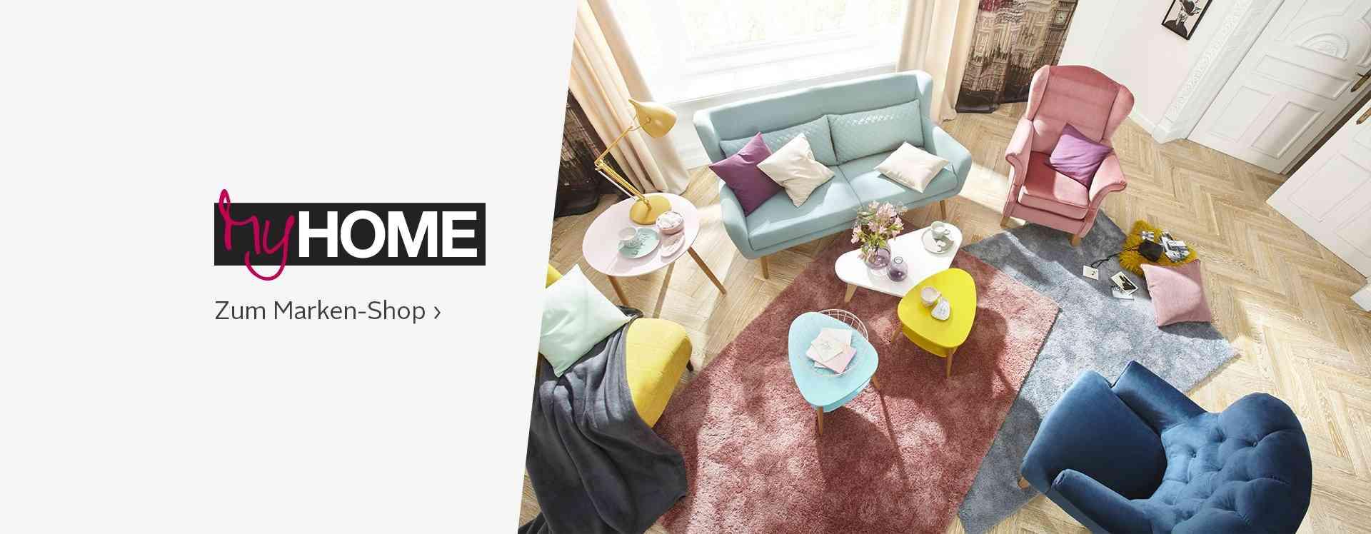 Moderne und hochwertige Heimtextilien von My Home für ein gemütliches zu Hause - von Gardinen & Vorhängen über Badematten, Bettdecken und Matratzen bis zu Teppichen & Bodenbelägen!