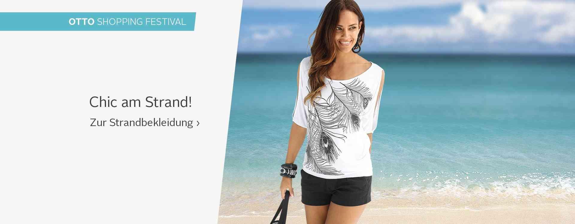 Lust auf Sommer? Perfektionieren Sie Ihren Beach-Look mit unserer luftig leichten Strandmode. Wunderbar leichte Sommerstoffe in schönen Designs und tollen Farben. Entdecken Sie unsere Strandmode.
