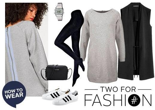 Cozy outfit pullover weste strumpfhose
