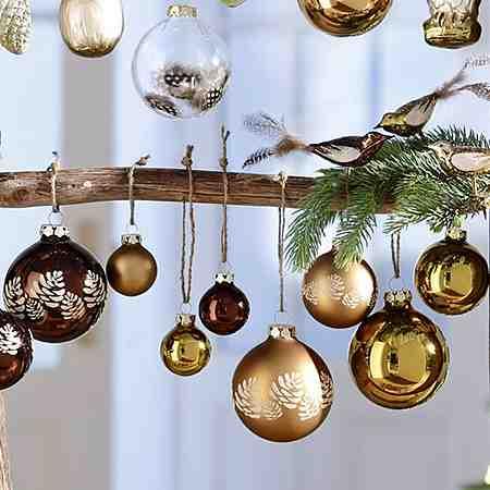 Weihnachtsbaum schmücken: Weihnachtskugeln