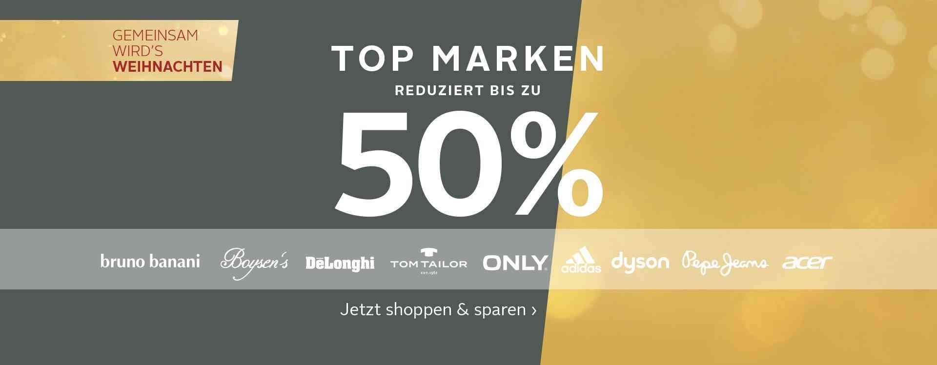 Лучшие бренды bis zu 50% reduziert