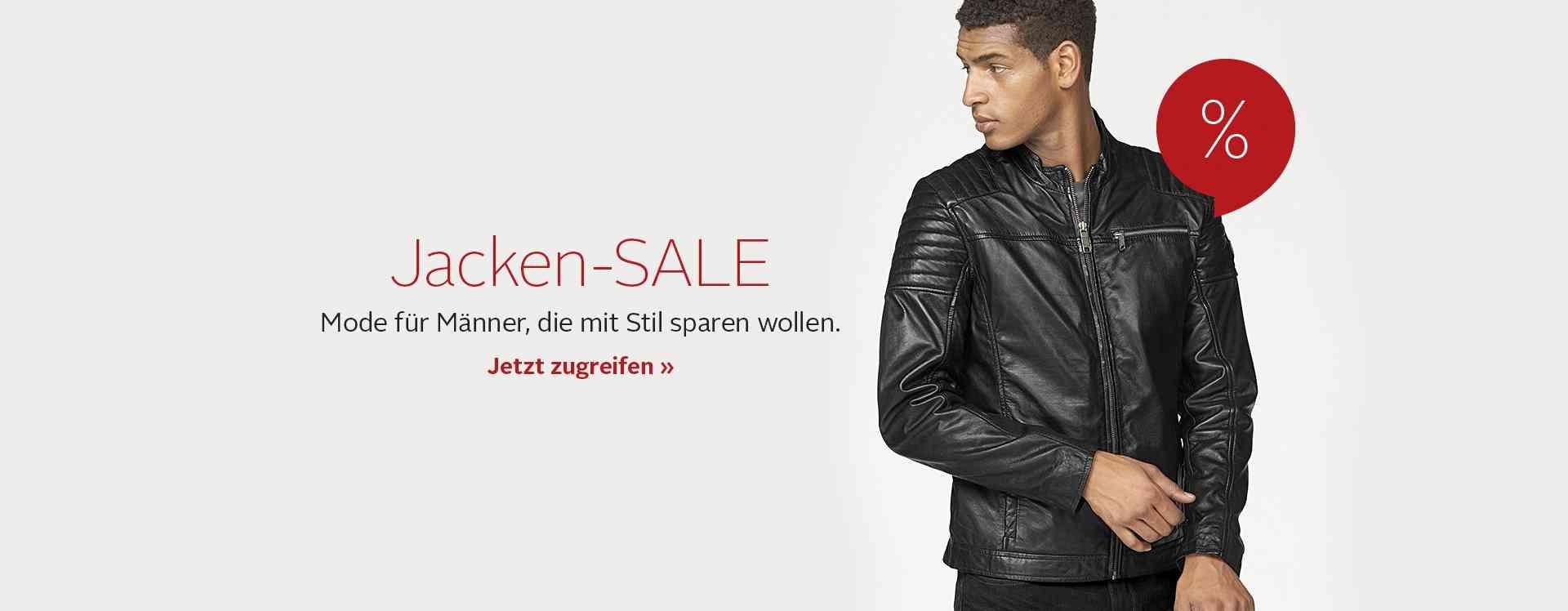 Herren-Jacken im Sale.