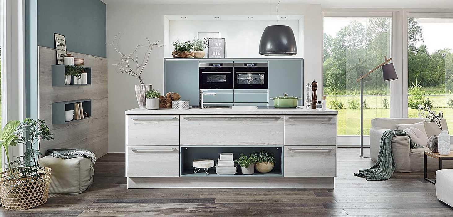 Designküche Go Green II Aqua