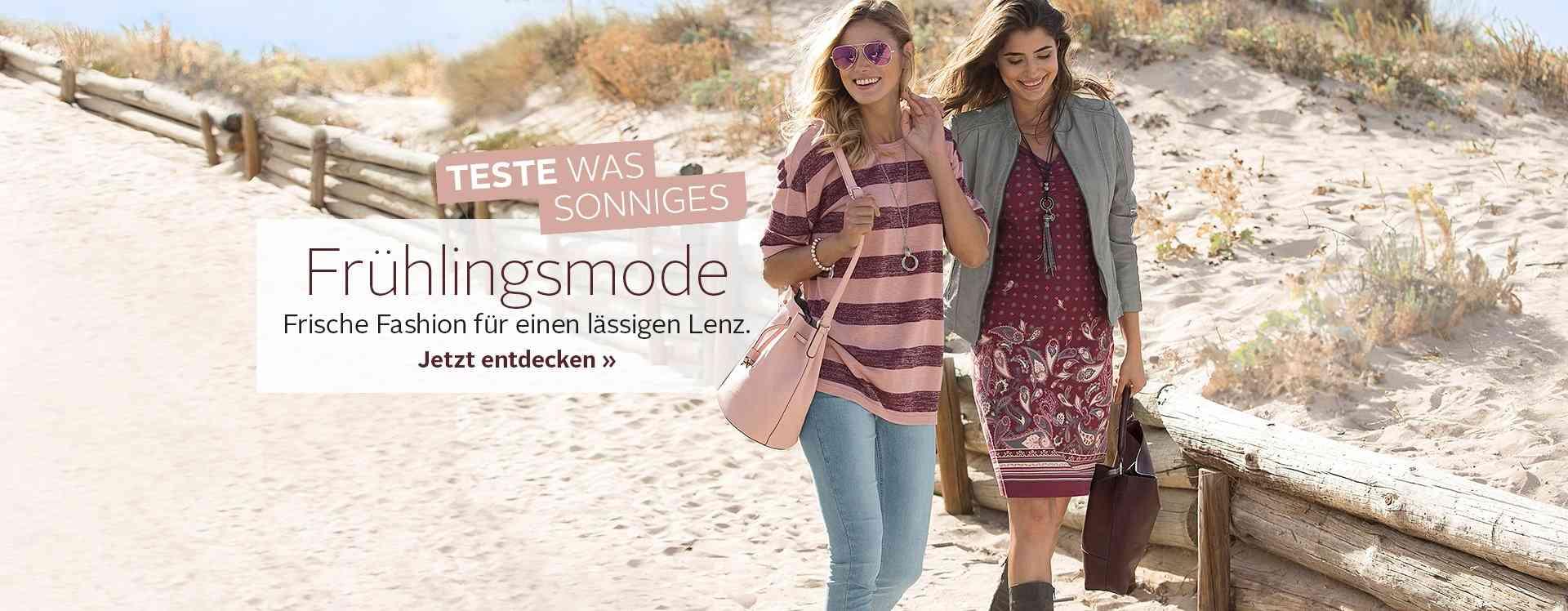 Damen-Frühlingsmode: Entdecken Sie jetzt gut kombinierbare Styles in frischen Farben und mit florale Elementen...
