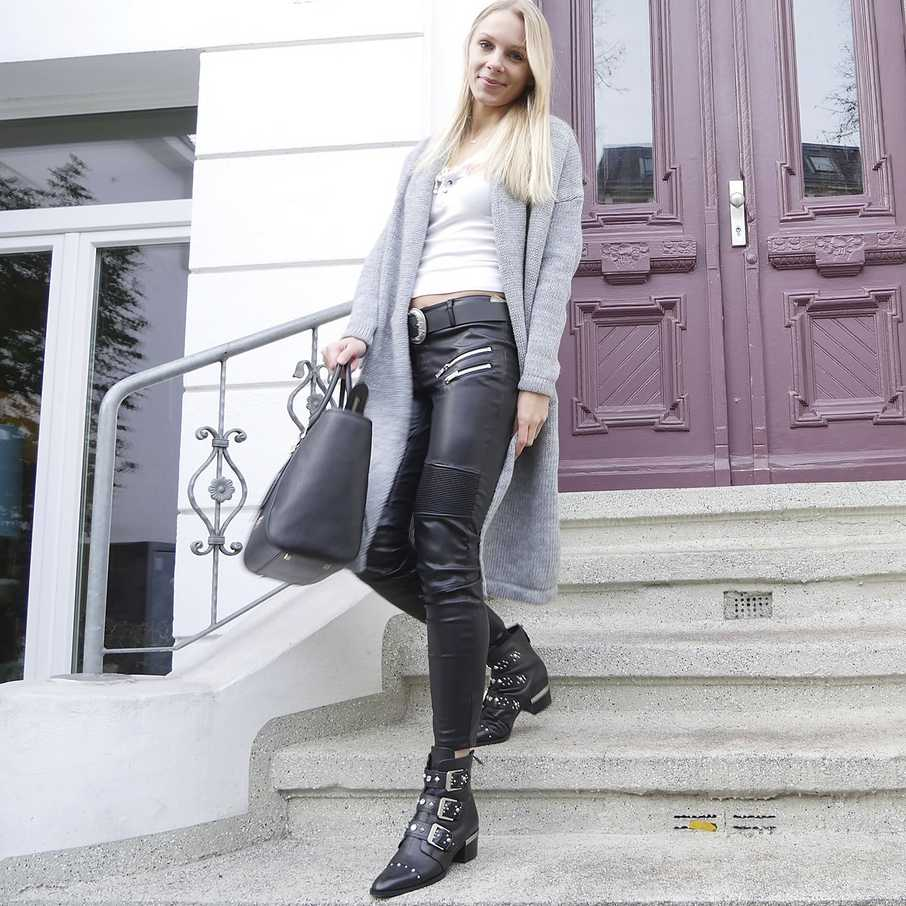 Lederhose, Two for Fashion, Cathrin, Outfit, Looks, Streetstyles