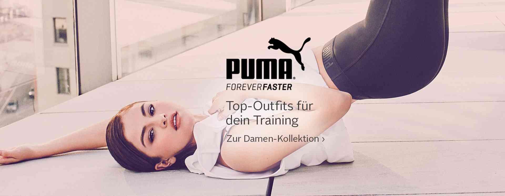 Eine große Auswahl an PUMA Sport- und Lifestyle Bekleidung und Schuhe für Damen finden Sie in unserem PUMA Shop