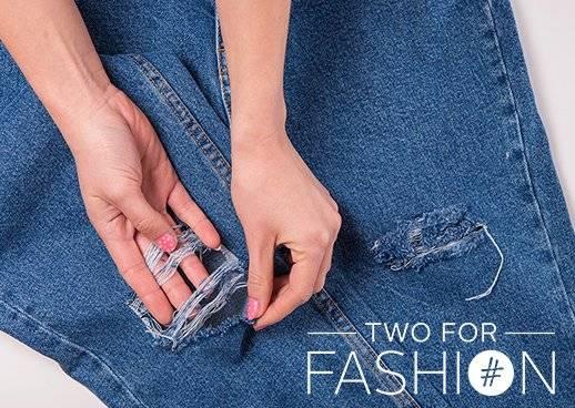 diy zerrissene Jeans selbstgemacht Used-Look