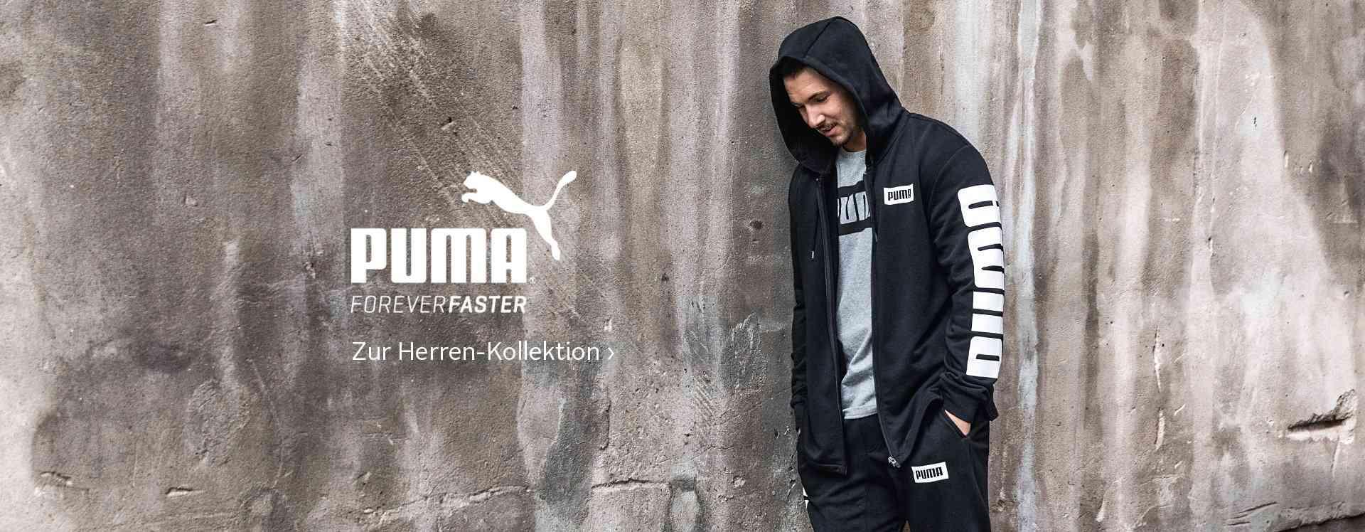 Eine große Auswahl an Sport- und Lifestyle Bekleidung und Schuhe von PUMA für Herren finden Sie in unserem PUMA Shop