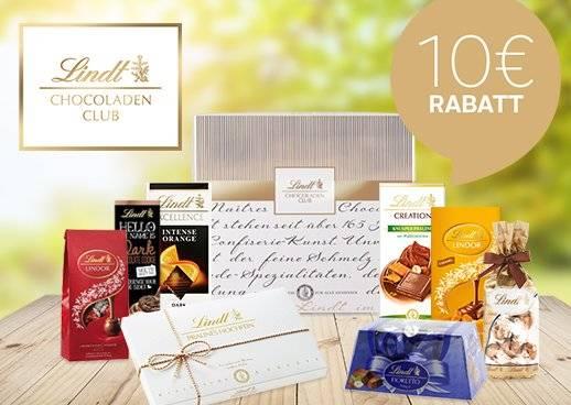 Meine Lieblingsbox Lindt Chocoladen Club 10 € Rabatt