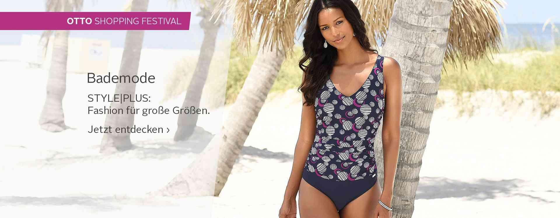 OTTO präsentiert Bademode in großen Größen: Bikinis, Tankinis, Badeanzüge und vieles mehr!