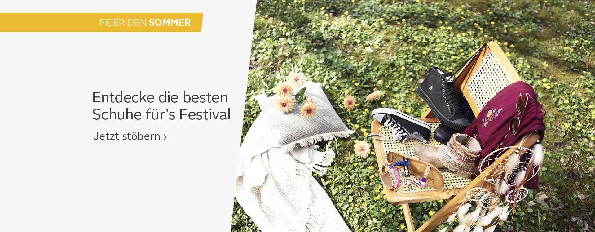 Bühne frei für die Style-Newcomer! Bei den Damen- und Herren-Festivalschuhen finden Sie genau das Richtige für Ihr großes Event... Jetzt stöbern!