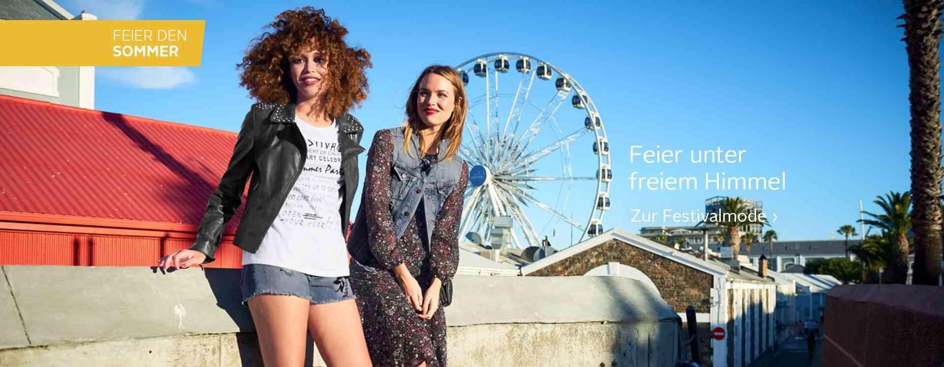 Bühne frei für die Style-Newcomer! Bei der Damen-Festivalmode finden Sie von Hippie-Outfits bis hin zu Regenjacken alles, was Sie für Ihr großes Event brauchen...  Jetzt entdecken!