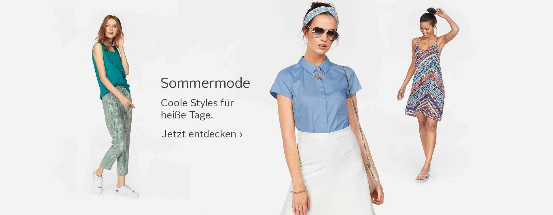 Coole Styles für heiße Tage: Damen-Sommermode in luftigen Schnitten und leichten Materialien... Jetzt entdecken!