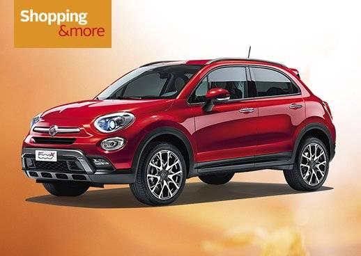 Shopping&more Gewinnspiel Fiat 500X Cross 20.000€ in bar und attraktive Garantiegewinne