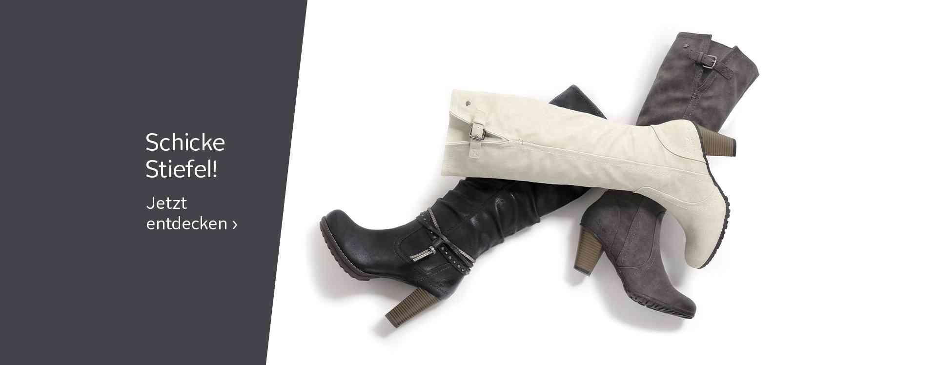 Damen-Stiefel in vielen Styles, die den femininen Look unterstreichen - sexy, schick oder sportlich.