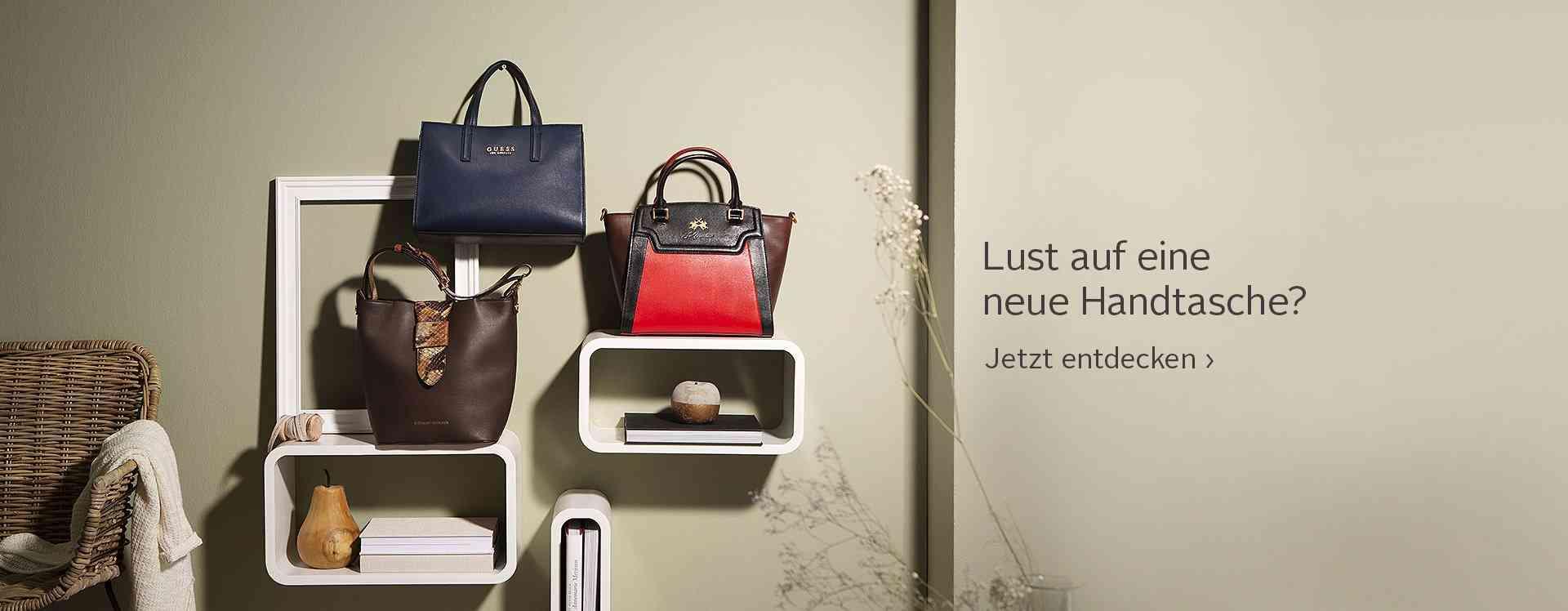 IHR ständiger Begleiter: Handtaschen finden Sie hier in allen Variationen.