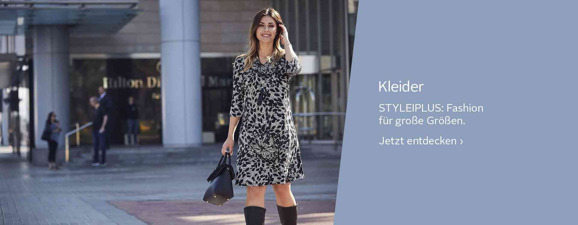 Romantisch verspielt, einfach und schlicht oder lieber auffällig glamourös? Hier ist für jeden das Richtige dabei! Kleider in großen Größen.