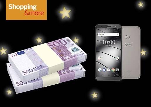 Shopping&more Gewinnspiel 15.000€ Weihnachtsgeld, 10 Smartphones von Gigaset und ein Garantiegewinn deiner Wahl