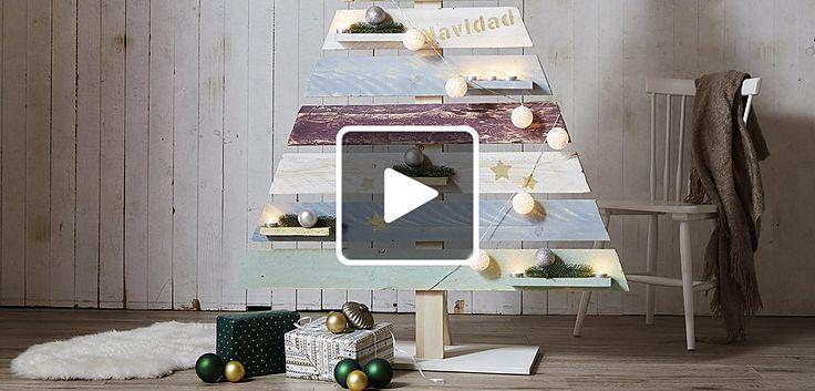 DIY Weihnachtsbaum aus Holz