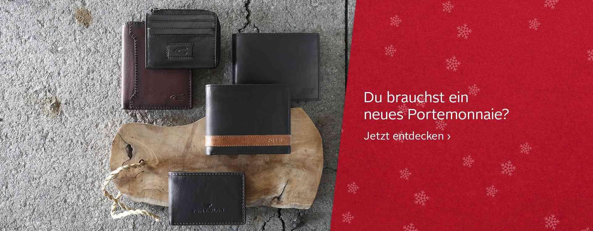 Ob klassisch aus Leder, lässig im Used- Look oder rockig mit Nieten besetzt: Für jeden Typ ist ein Portemonnaie dabei.
